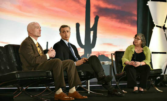 Brad Colton of Marriott, Emilio Tenuta of Ecolab and Libby Bernick of Trucost talk about Business Growth in an era of Water Scarcity.