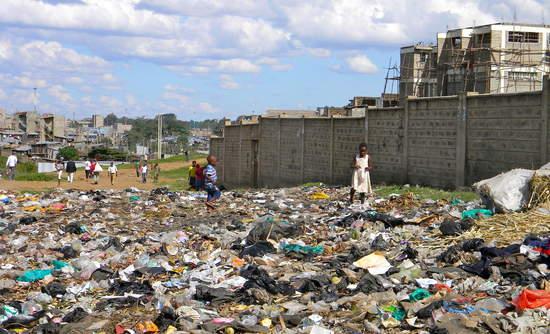 Mathare slum in Nairobi, Kenya