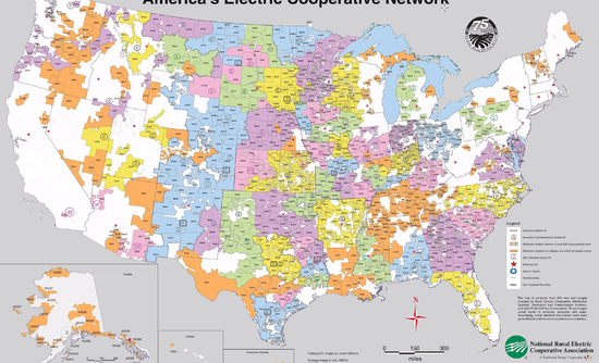 Electric co-op map