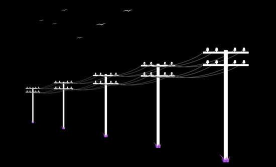 Power lines illustration