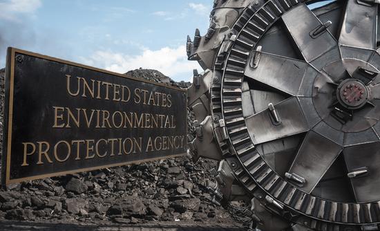 EPA sign and coal