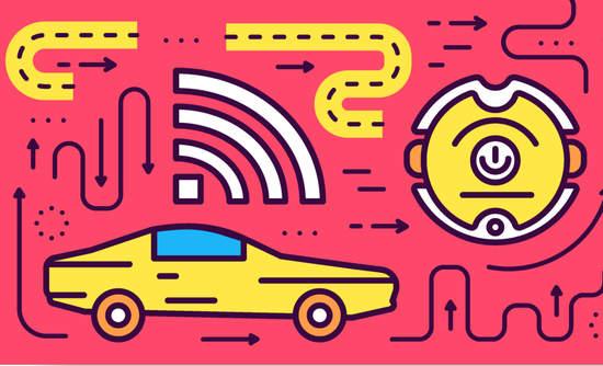 Illustration of electric car