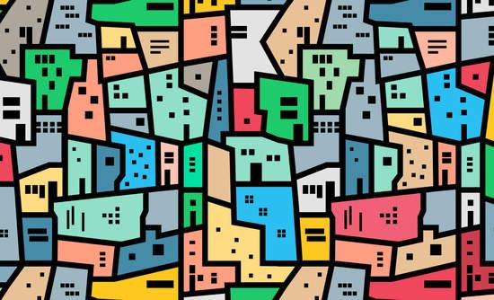 Graphic illustration of Brazilian favelas