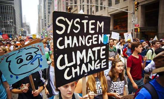 climate change march young activists