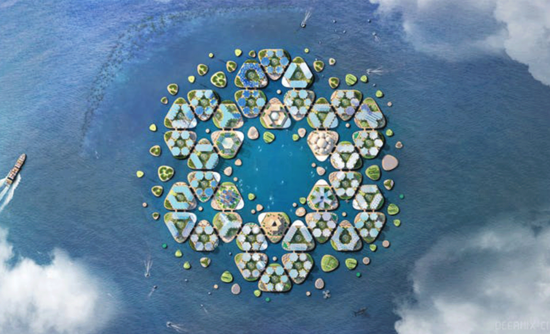 Oceanix, a proposed floating city