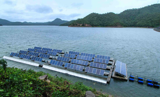 Floatovoltaic system in Thailand