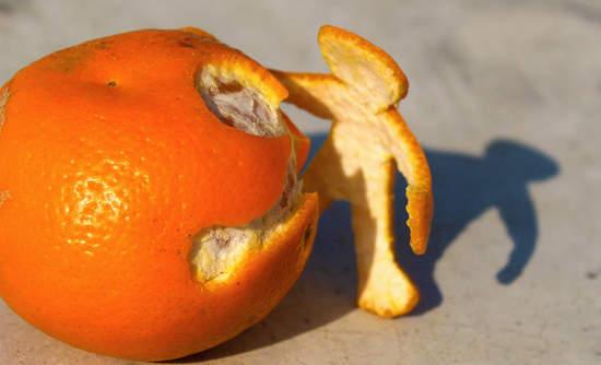 orange food waste huner climate change