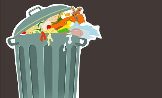 Illustration of a garbage can