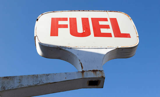 Photo of fuel station sign