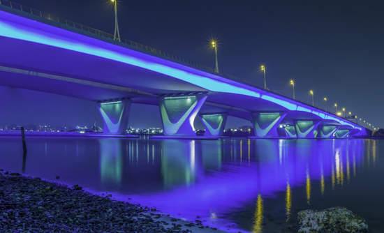 Garhoud Bridge in Dubai
