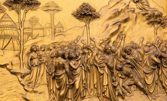 Bronze doors of the Florence Baptistery by Lorenzo Ghiberto