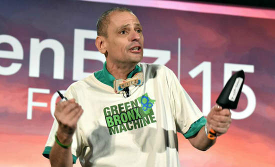 Stephen Ritz, who created the Green Bronx Machine to bring sustainability to schools, speaks at GreenBiz Forum 2015.