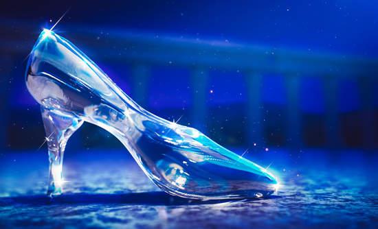 Glass slipper in the moonlight