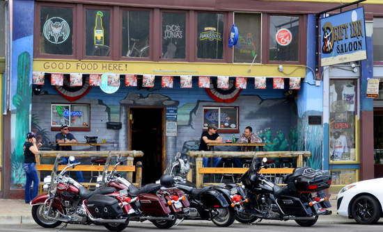 A barfront scene from Globe, Arizona.