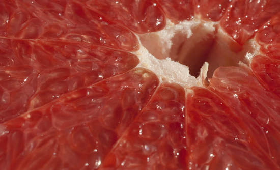 Closeup of grapefruit
