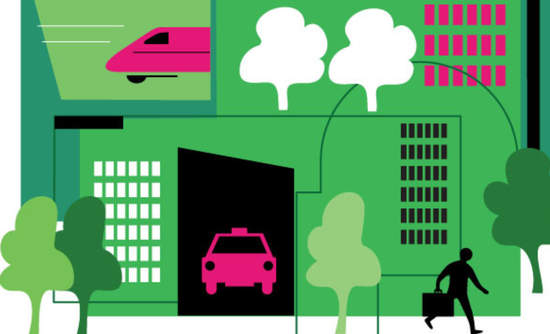 Illustration of a green city