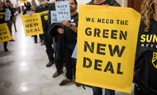Green New Deal protesters in Washington, D.C. in December 2018