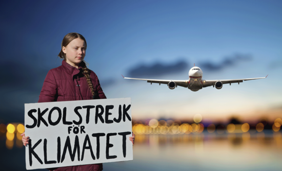 Image result for greta thunberg and airplanes