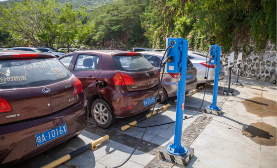 Electric car-charging infrastructure in Sanya Bay