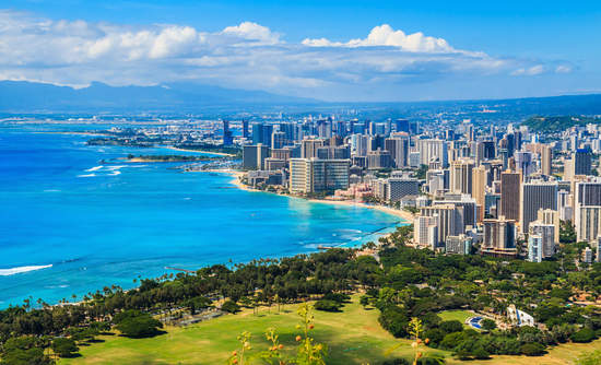 The skyline of Honolulu