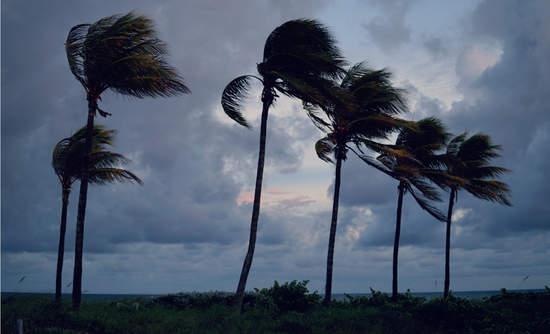 hurricane on beach