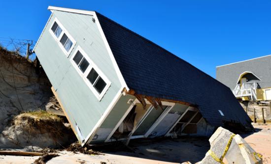 Hurricane Irma-damaged house