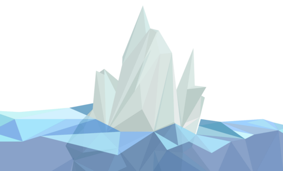 Illustration of geometric iceberg