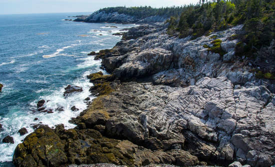 Acadia National Park on Isle au Haut, of the coast of Maine