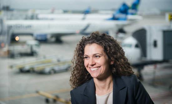 Sophia Mendelsohn, the Head of Sustainability at JetBlue