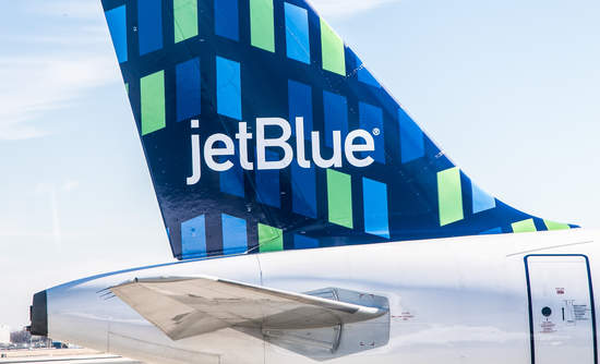 JetBlue, airplane, tail