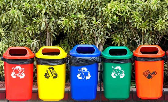 Waste bins in Kamikatsu, a zero-waste town in Japan