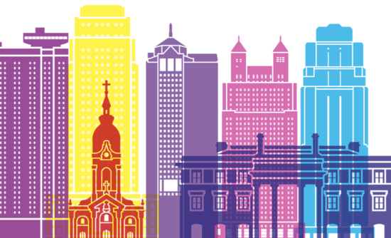 Illustration of Kansas City's skyline
