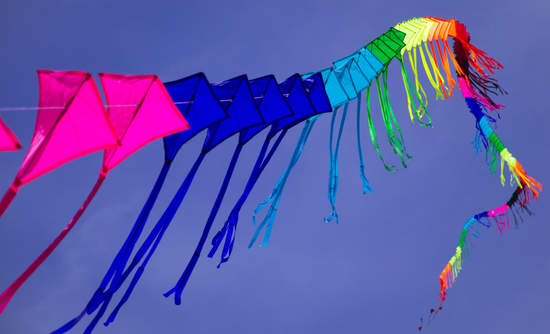 Colorful kite in the sky