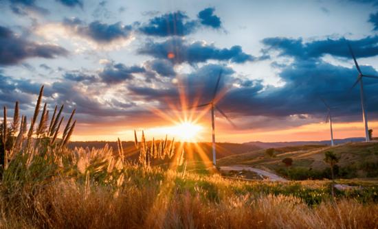 Wind turbines on the Kansas prairie