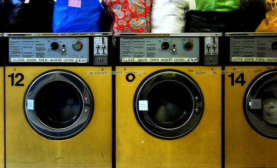 Old laundromat machines