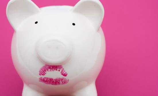 Lipstick on a piggy bank