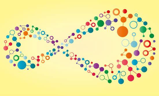 Loop of molecules illustration