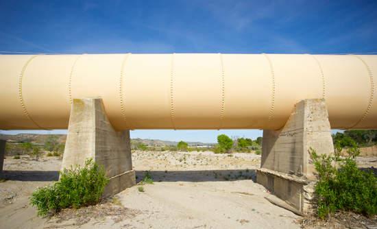 Los Angeles Aqueduct in the desert