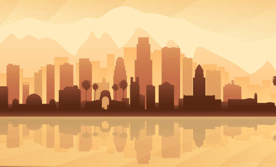 Silhouette of Los Angeles