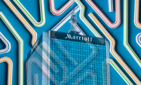 Marriott hotel and straws