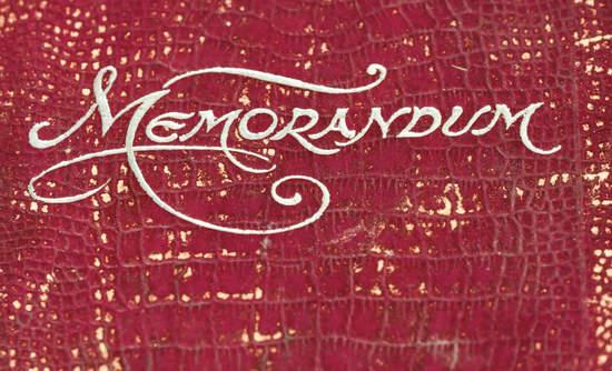 """Old """"memorandum"""" book"""