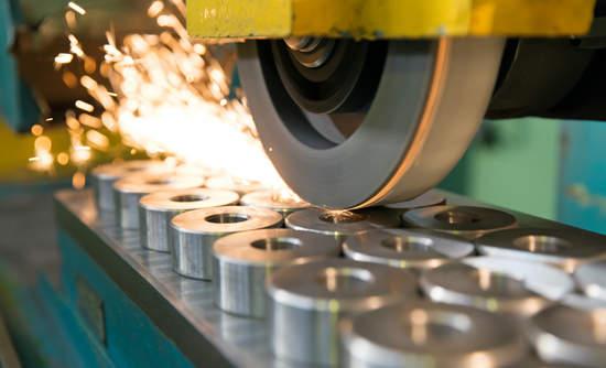 Photo of industrial metal working