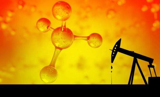 methane molecule in oilfield