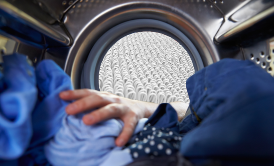microfibers in the laundry