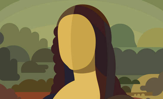 Illustration of the Mona Lisa