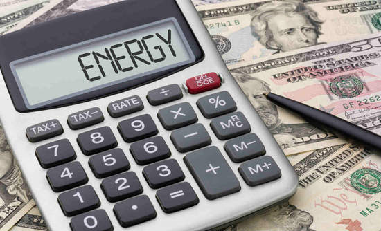 """Money and a calculator that says """"ENERGY"""""""