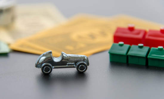 Monopoly money and car