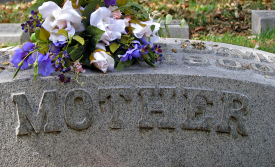 "Gravestone marked ""Mother"""