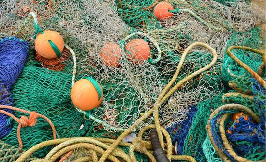 Fishing nets and buoys