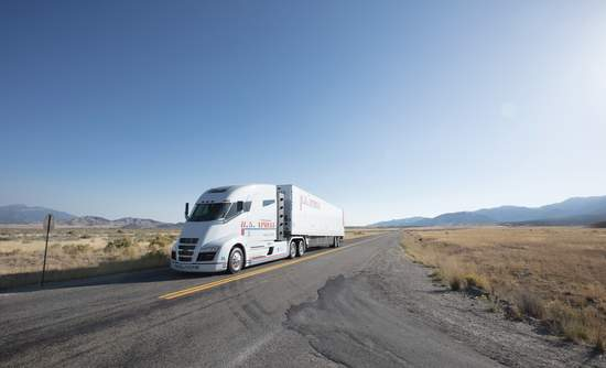 Nikola Motor Company's fuel cell-powered electric semi truck